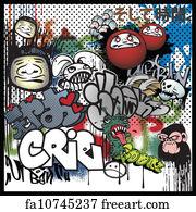 Free art print of Graffiti urban art elements