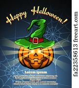 Halloween Poster Art.Free Art Print Of Vintage Halloween Witch Poster Desi