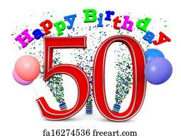 50th Birthday Art Print