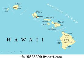 graphic relating to Printable Map of Hawaiian Islands named Free of charge artwork print of Molokai, Hawaii