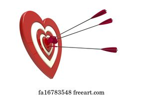 Free heart shaped target art prints and wall artwork freeart heart shaped target art print heart shaped target and arrow altavistaventures Images