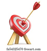 Free heart shaped target art prints and wall art freeart heart shaped target art print heart shaped target with the arrow in the center 3d thecheapjerseys Gallery