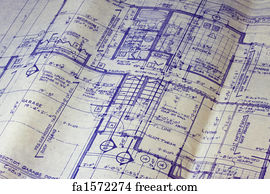 Free old blueprint art prints and wall art freeart old blueprint art print house floor plan blueprint malvernweather Gallery