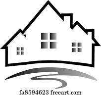 free house silhouette art prints and wall artwork freeart