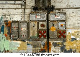 free art print of electricity distribution box with wires and rh freeart com