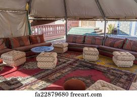 free art print of berber tent in the sahara desert morocco africa
