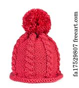 Ski Hat Art Print - Knitted Hat Isolated On White Background 0c5a8b5854a3