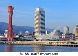 11585031df18 Free art print of Kobe Japan Skyline. Kobe