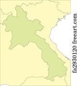 Free Thailand Vector Map Art Prints And Wall Art FreeArt - Laos map vector