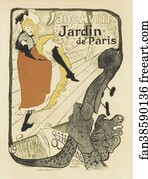 Free art print of at the moulin rouge the dance by henri for Jardin de paris jane avril