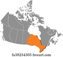 Free art print of Map - Canada. Map of Canada with the provinces ...