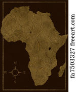 Map Of Africa Art.Free Art Print Of Africa Map Map Of Africa Includes Part Of Europe
