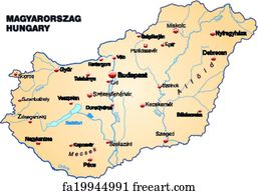 Free Hungary Map Art Prints and Wall Artwork | FreeArt