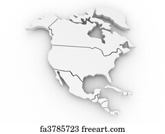 Free North America Map Art Prints and Wall Art FreeArt