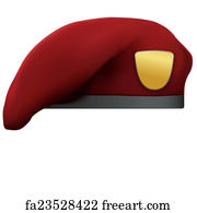 0855241bb059f Maroon Beret Art Print - Maroon Military Red Beret Army Special Forces