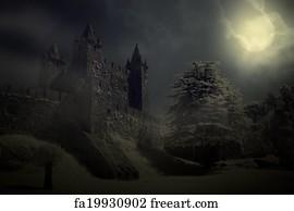 Gothic Castle Art Print