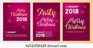 new year party invitation art print merry christmas party poster template vector illustration