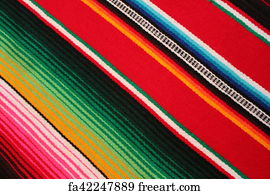 Free Art Print Of Cinco De Mayo Mexican Fiesta Blanket Serape
