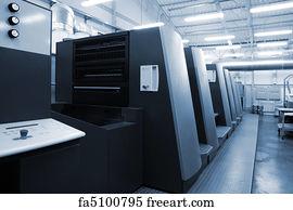 Printing Press Machine Art Print