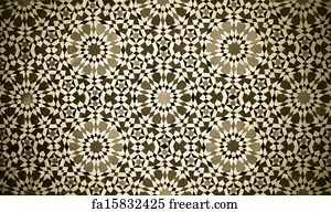 Moroccan Art Print   Moroccan Vintage Tile Background