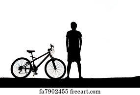 mountain biking silhouette art print mountain biker man silhouette