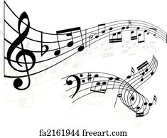 free art print of music notes vintage music notes background rh freeart com music note art prints music note art for walls