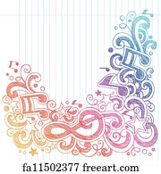 Free art print of Music Note Sketchy Doodles Vector