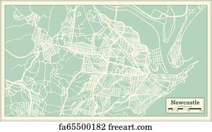 Australia Map Newcastle.Free Art Print Of Newcastle Australia
