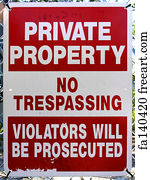 image regarding Printable No Trespassing Sign titled Totally free No Tresping Signal Artwork Prints and Wall Art FreeArt