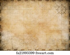 free art print of old nautical map background old nautical treasure