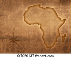 Free art print of South africa vintage map. South africa map on a