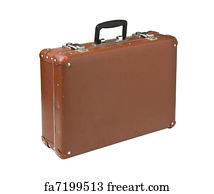 free art print of old suitcase old suitcase isolated on white