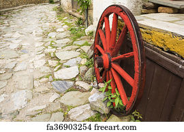 Free Art Print Of Rustic Old Barn Door A Rustic Old Barn Door With Peeling Red Paint Stone