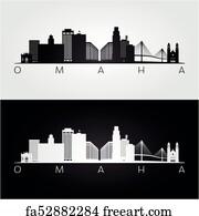 Free Art Print Of Downtown Omaha Nebraska Skyline Skyline