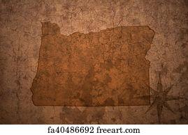 Vintage Oregon Map.Free Art Print Of Texas State Map On A Old Vintage Crack Paper