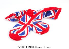 Art Print - Pair Of Union Jack Socks. Pair of union jack socks · Art Print  - Military British Flag Helmet. Isolated On White Background. 534fb58e3487