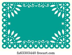 picture relating to Papel Picado Printable identified as Absolutely free Papel Picado Artwork Prints and Wall Art FreeArt