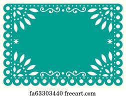 image regarding Papel Picado Printable identify Absolutely free Papel Picado Artwork Prints and Wall Art FreeArt