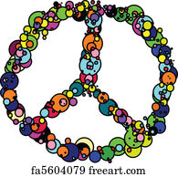 Free Art Print Of Peace Sign Wood Painted Letters Spelling The Word