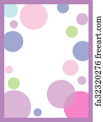free art print of pink polka dot background for your message or