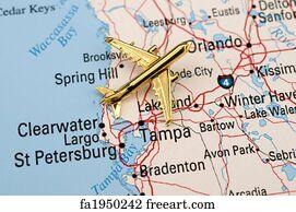 Free Florida Road Map Art Prints and Wall Artwork | FreeArt on