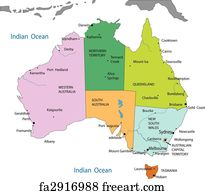 Free Art Print Of Seychelles Political Map Seychelles Political - Political map of australia