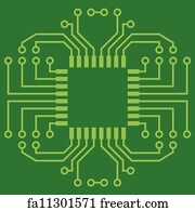 Free art print of microchips on a printed circuit board. Pile of ...