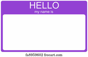 Free Art Print Of Hello My Name Is The Future An Aqua Blue