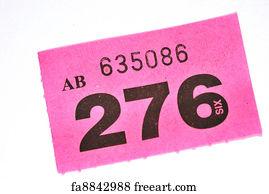 tombola art print purple raffle ticket