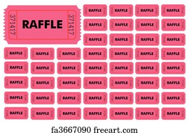 raffle ticket art print raffle tickets