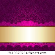 Free Art Print Of Baroque Invitation Gold And Green