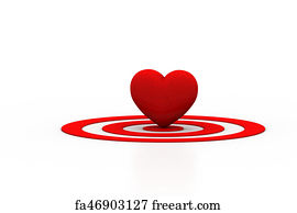 Free heart shaped target art prints and wall art freeart heart shaped target art print red heart sign on the target sign thecheapjerseys Gallery