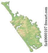 3d Map Of New Zealand.Free Art Print Of Relief Map Auckland New Zealand 3d Rendering