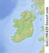 Map Of Ireland 3d.Free Art Print Of Map Ireland 3d Illustration Map Of Ireland As